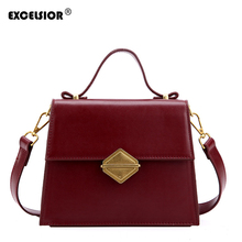 EXCELSIOR New Fashion Womens Bag High Quality PU Leather Crossbody ins Stylish Shoulder Bags for Female 2019 Sac A Main