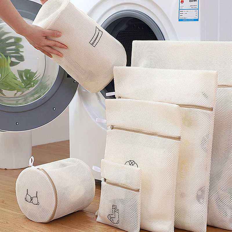 4/6 Pcs Laundry Bag Bra Underwear Socks Washing Bag Thicken Polyester Mesh Net Wash Pouch Household Washing Machine Laundry Bags