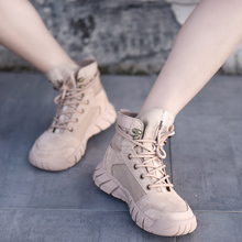 Artmu Autumn and Winter 2019 New Leisure High-Up Shoes Female Canvas Boots Martin Casual Comfortable Ankle 19257