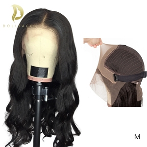 Image 2 - 13x6 lace front Brazilian Body Wave Fake Scalp Wig Lace Front Human Hair Wigs For Black Women pre plucked bleached knots 180%