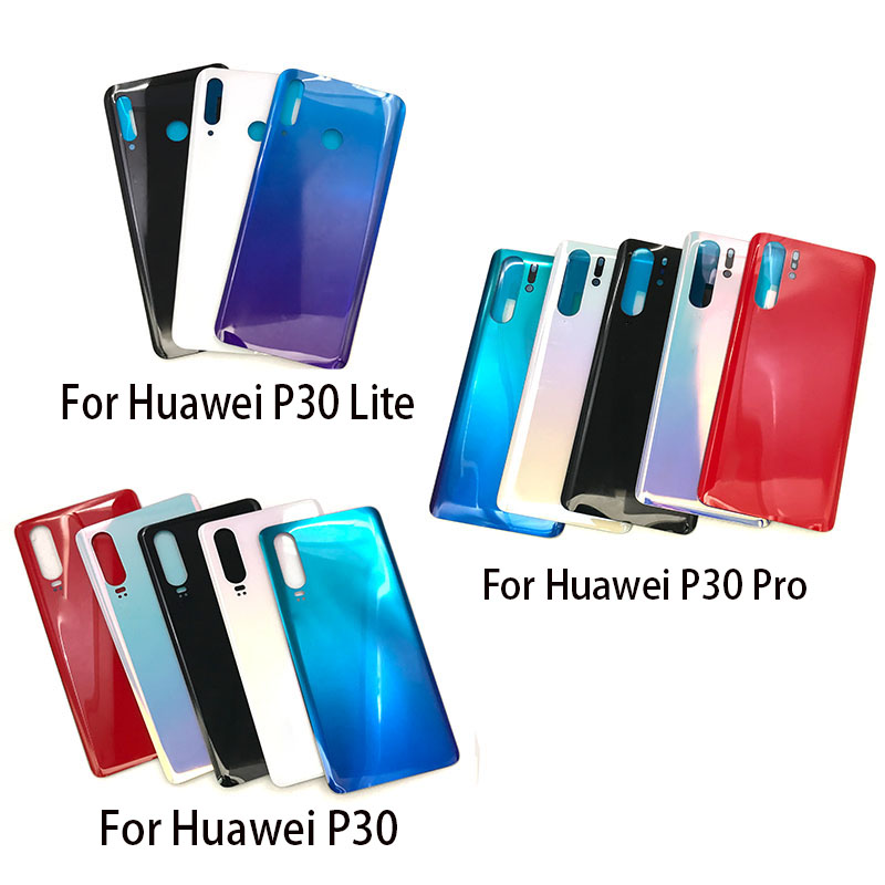 Replacement Glass <font><b>Battery</b></font> Back <font><b>Cover</b></font> Case For <font><b>Huawei</b></font> <font><b>P30</b></font> Lite Pro Housing STICKER Adhesive image