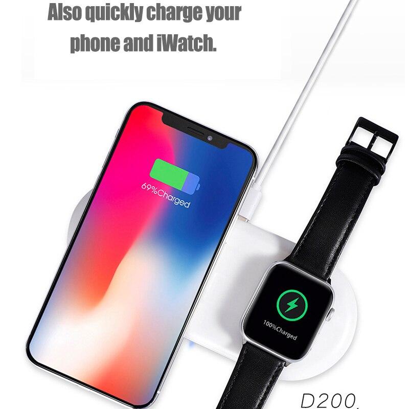 Image 3 - Беспроводное зарядное устройство QC 3,0, быстрая зарядка для iWatch 1 2 3 4 5, адаптер Qi, беспроводная Быстрая зарядка для iPhone 11 Xs Samsung Note 10Беспроводные зарядные устройства    АлиЭкспресс