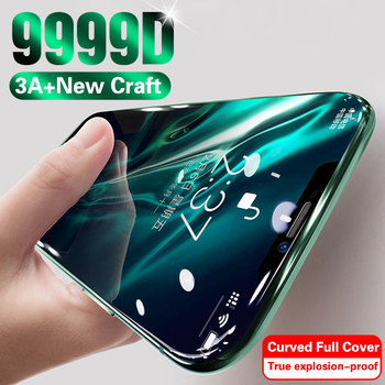 Перейти на Алиэкспресс и купить Полное покрытие стекло для iPhone 11 Pro Max XS MAX XR X защита экрана закаленное стекло для iPhone 7 8 6 6s Plus 10 11 стеклянная пленка