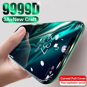 Защитное стекло, закаленное стекло с полным покрытием для iPhone 11 Pro Max XS MAX XR X 7 8 6 6s Plus 10 11