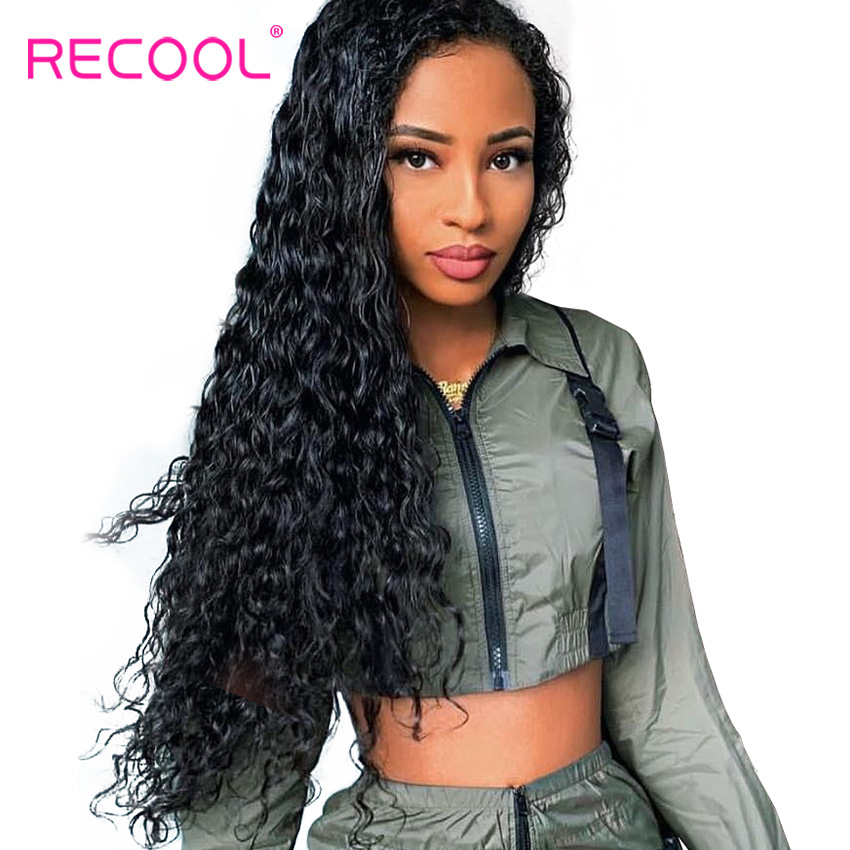 Recool Water Wave Wig 13x6 Lace Front Human Hair Wigs Pre Plucked With Baby Hair 180
