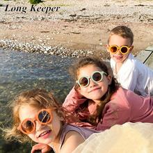 Kids Sunglasses Longkeeper Green Eyewear Baby Shades UV400 Girls Children Fashion Round
