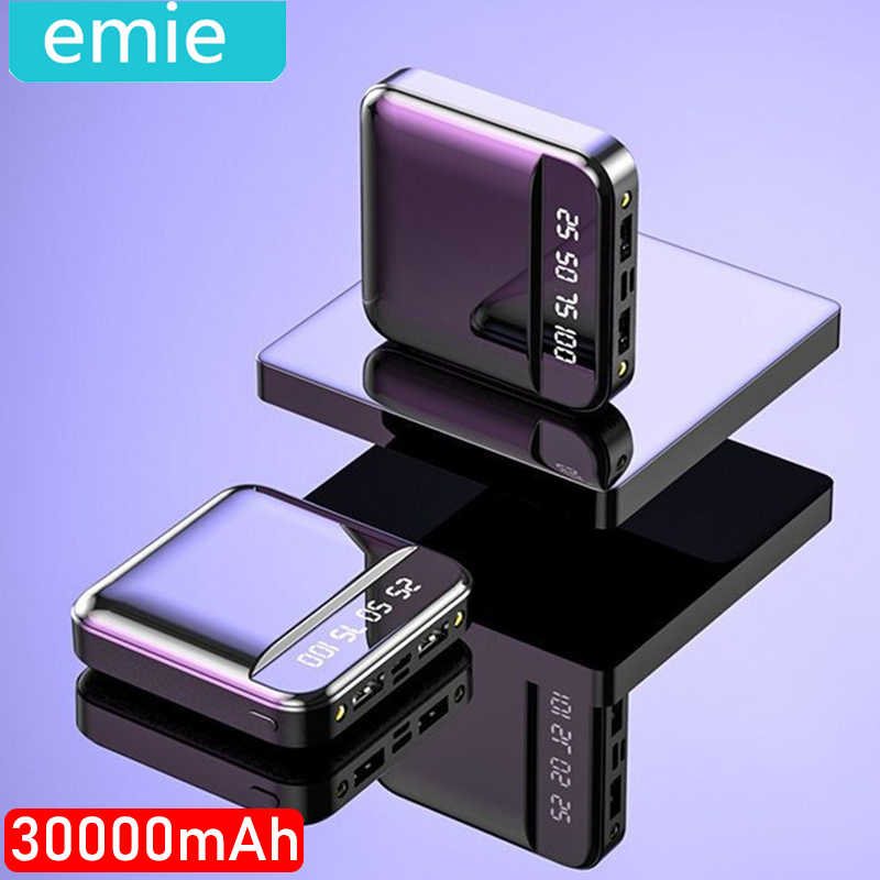 Mini Power Bank 30000mAh Cho iPhone 7 8 X Samsung Powerbank Pover Bank Cổng USB Đôi Pin Ngoài poverbank Portab