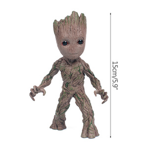 Image 5 - Strongwell Baby Groot Doll Tree Man Model Plastic PVC Guardians Groot The Galaxy Decoration Figurine Kids Toy