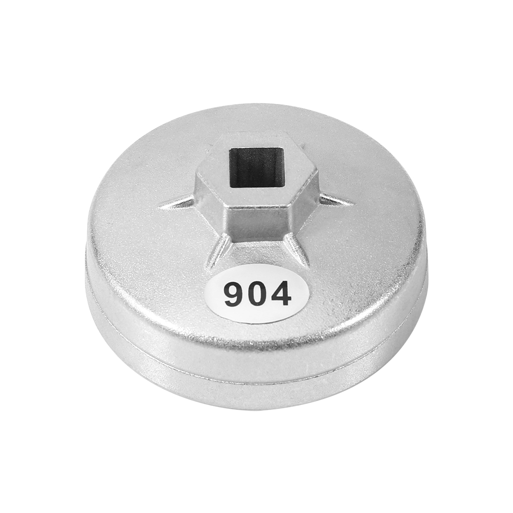 904 Silver Aluminum Cap Oil Filter Wrench 1/2