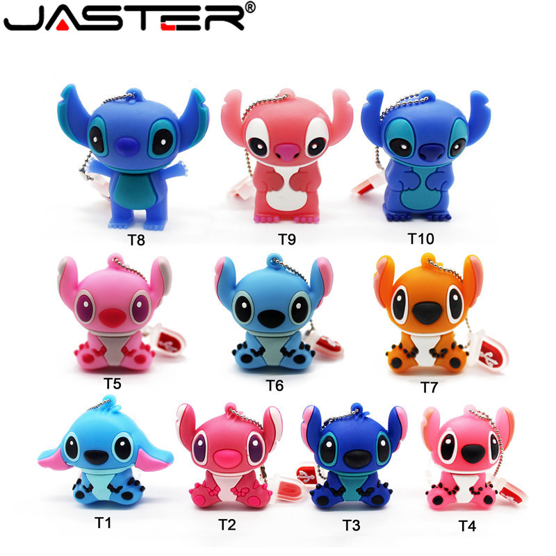 JASTER  The New Cute Stitch  USB Flash Drive USB 2.0 Pen Drive Minions Memory Stick Pendrive 4GB 8GB 16GB 32GB 64GB Gift