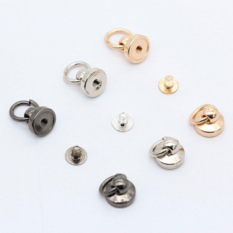 20 шт., позолоченные и посеребренные металлические круглые штифты с кольцом для прыжков, кожаные сумки для ремней, винты и заклепки для ногте...