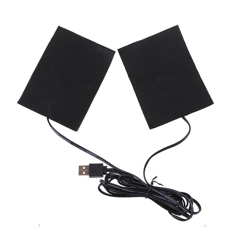 6Styles USB 3.7V-5V Portable Warm Plate Carbon Fiber Heating Pad USB Heating Film Fever Heat Mat Winter Warm Glove