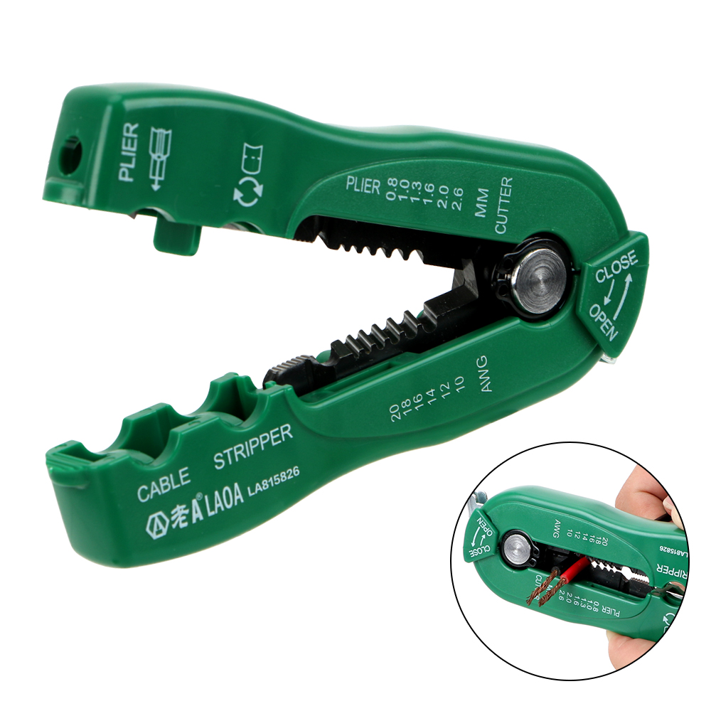 NICEYARD Wire Stripping Crimp Tool Suitable 0.8-2.6mm Multifunction Wire Cutter Cable Stripper Portable Hand Tools