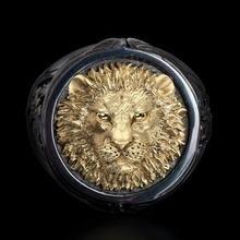 Модные популярные властный Лев Головы Мужские кольца в анималистическом