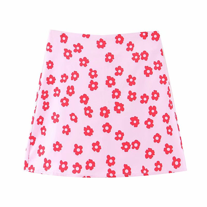 H9cc3bd6377e34a659402ef1469862594v - Mini skirt elegant boho skirts womens high waist skirt floral satin skirt short kawaii skirts womens pink skirt A line
