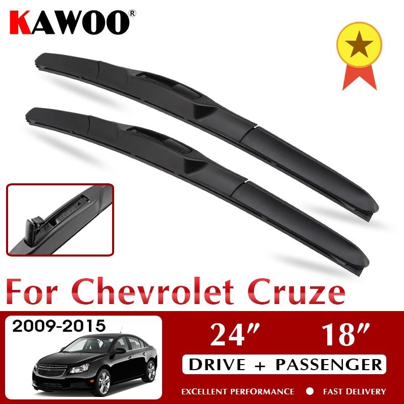 KAWOO araba sileceği bıçakları için Chevrolet Cruze 2009 2010 2011 2012 2013 2014 2015 ön cam ön cam araba aksesuarları