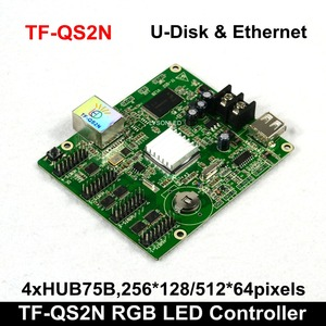 Image 4 - TF QS2 TF QS2N 256x128 Pixels U disk ASynchronization Full Color LED Control Card Compatiable with P4/P5/P6/P8/P10  Module