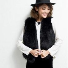 2019 Winter Vetement Women Faux Fur Coat Furry Vest Wild Fox Vest Short Plus Size Slim Sexy Furry Fur Coat Lolita Vest AW240(China)