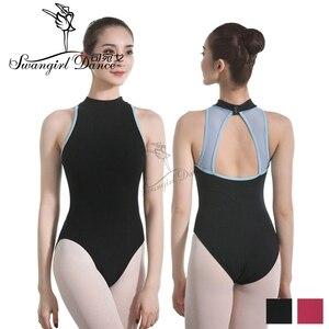 Image 1 - Nero Danza per Adulti Body per Le Donne Del Cotone di Lycra Sexy Body Balletto di Danza Costumi per Le Ragazze Tuta Balletto ClothesCS0713