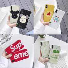 Curved Suitcase Phone Case For iPhone XS MAX XR X Solid Color Soft TPU 8 7 Plus 6s 6 Silicone Cover Coque Fundas
