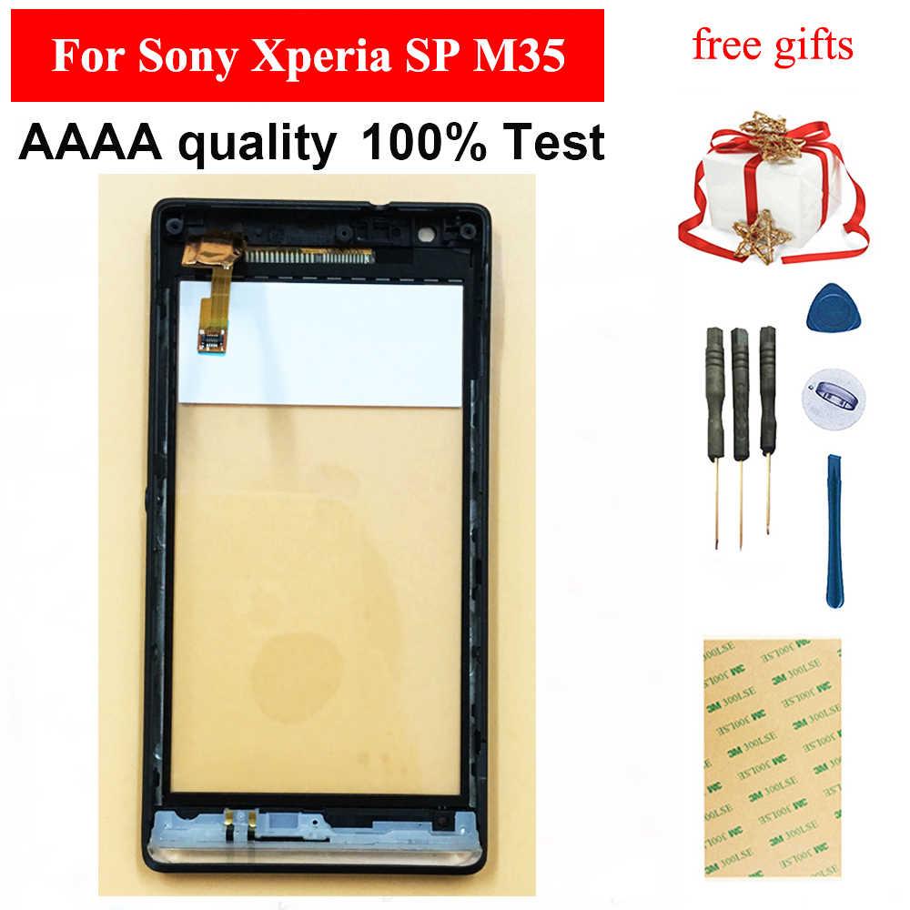 עבור Sony Xperia SP M35 M35h M35i C5302 C5303 מול מסך מגע Digitizer פנל זכוכית חיישן מסגרת