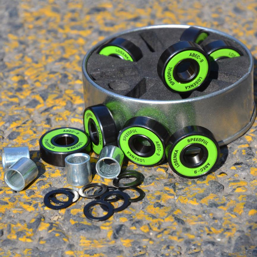 Good Quality Skateboard Bearings Black Anodized ABEC-11 100% Chrome Steel Bearing Deep Groove Ball Bearing