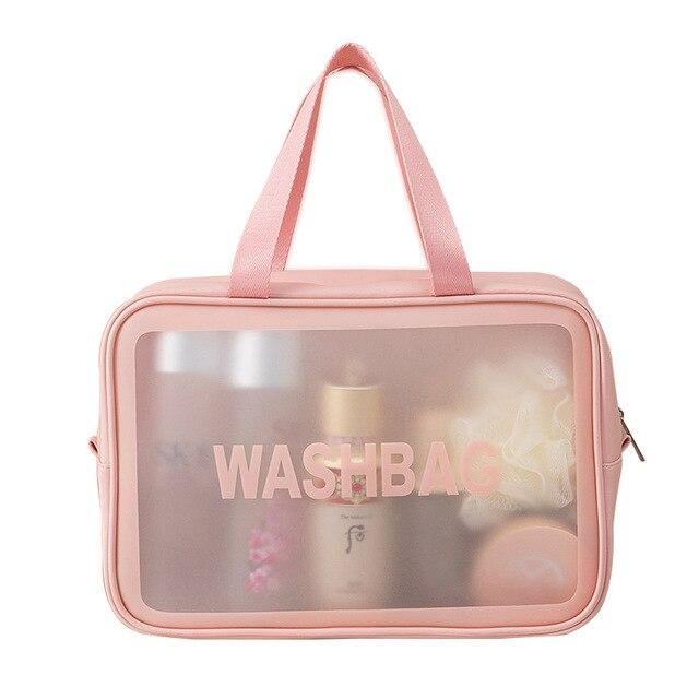 PVC Transparent Waterproof Cosmetic Bag for Women Large Capacity Portable Travel Scrub Toilet Makeup Bag Dressing Storage Bag 5