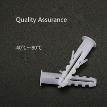 цена на 10/100Pcs 5/6/8/10mm Plastic Expansion Tube Pipe Wall Anchors Plugs Expansion With Phillips Head Screw A026