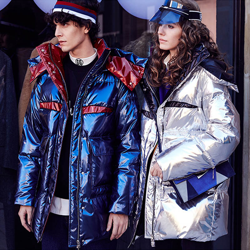 Winter Jacket Women Down Coat 2019 90% White Duck Down Jacket Female Thick Long Coats Snow Wear Glossy Hooded Clothes Waterproof