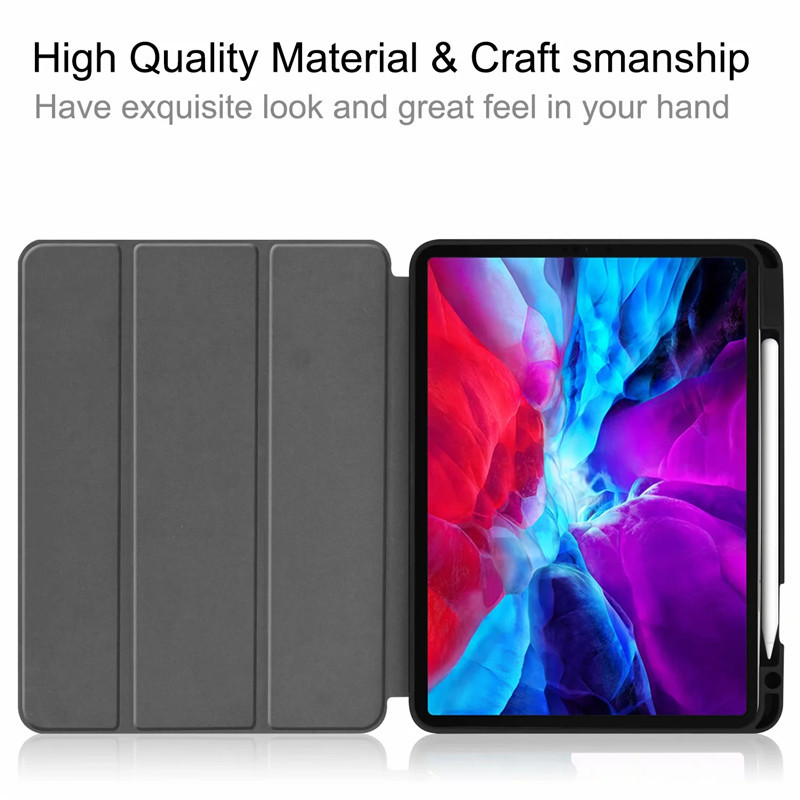12 For Pro Cover Case Smart Case PU 2020 Leather Stand Painted 9 TPU For iPad Back iPad