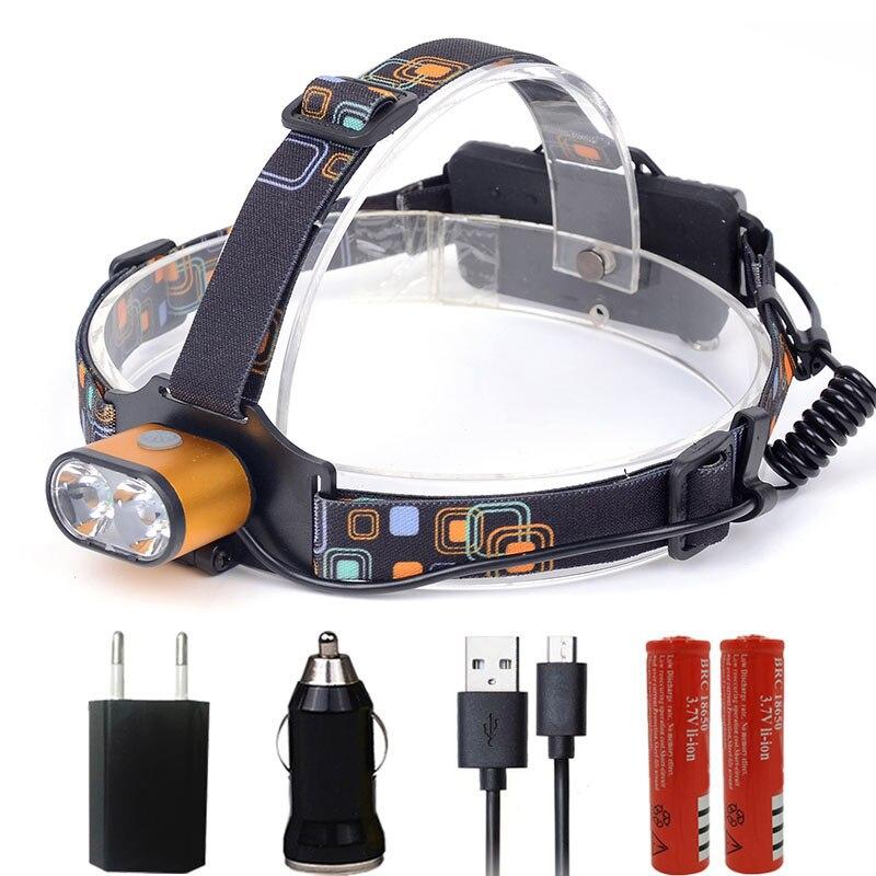 Litwod Z307314 8000LM LED Headlamp XML-T6 3 Modes Rechargeable Headlight Head Lamp Spotlight Head Light 2* 18650 Battery