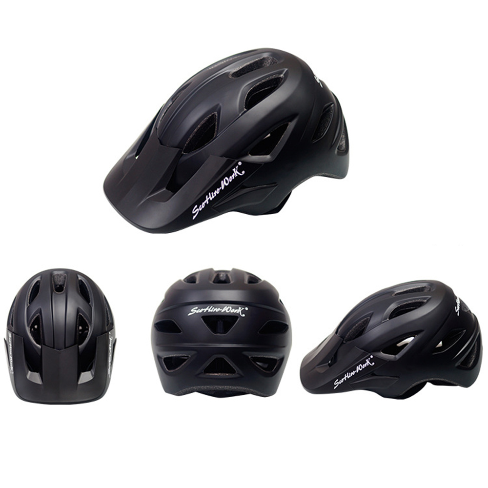 Cycling Helmet With Visor Ultralight MTB Road Bike EPS Helmets Mountain Bicycle Safety Integrally-mold Head Cover Casco BC0081 (8)