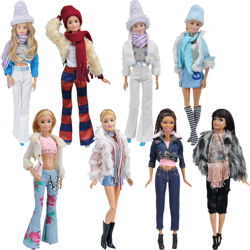 Fashion Doll Party Clothes Elegant Blouse Four Seasons Casual Wear Suit For Barbie Doll Trousers Clothes Accessories Girls Gift
