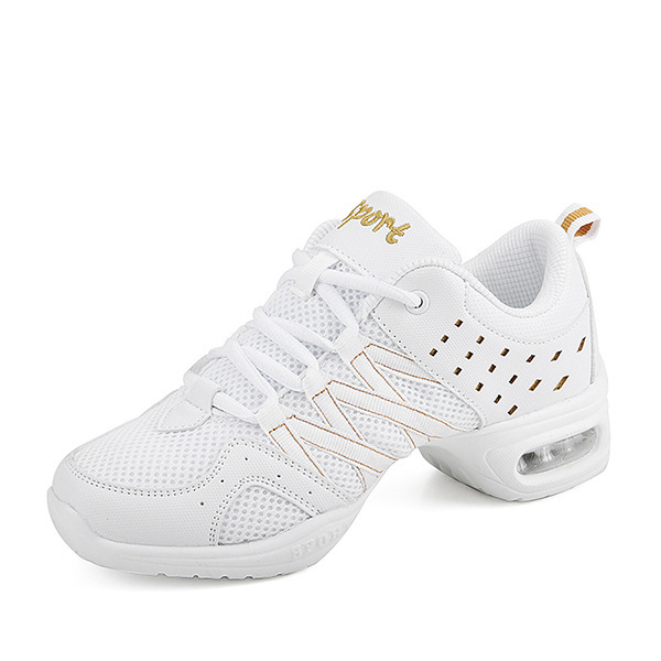 Woman Shoes Lady Shoes White Dance Soft Sole Of Shoes Dance Shoe Motion Aerobics Network Noodles Modern Square Dance Sir Shoes in Women 39 s Vulcanize Shoes from Shoes