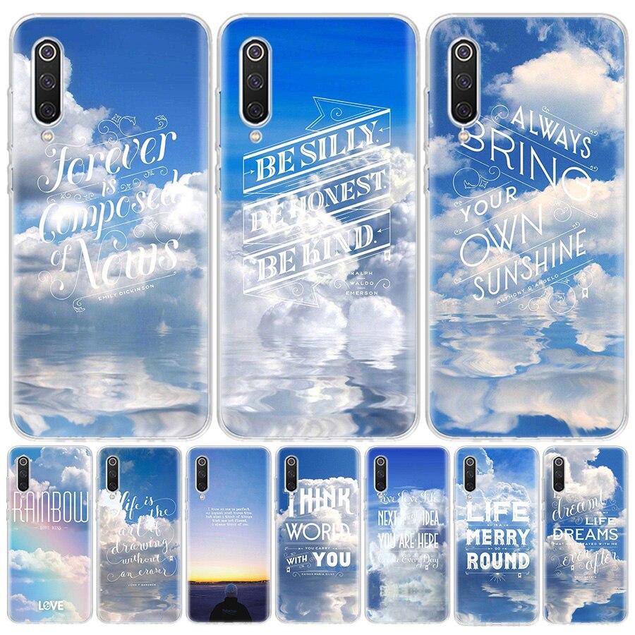 Вдохновляющие текст, написанный in the sky чехол для телефона Xiaomi Redmi Mi Note 9S 9 8, 8, 7, 6 Pro 5A 5 4X 8A 8 7A 7 6A 6Pro 6 S2 K30 K