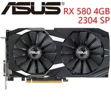 Видеокарта ASUS RX 580 4GB 256Bit GDDR5 видеокарты для AMD RX 500 серии VGA карты RX580 используется DisplayPort HDMI DVI