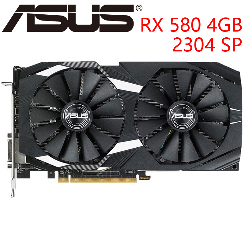 ASUS Video Card RX 580 4GB 256Bit GDDR5 Graphics Cards for AMD RX 500 series VGA Cards RX580 Used DisplayPort HDMI DVI|Graphics Cards| - AliExpress