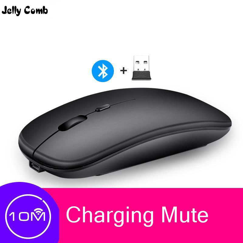 Jelly Comb Bluetooth Rechargeable Mouse Wireless Silent Dual Mode Optical Mice 2.4G 5.0 Mute Silent  Ergonomic Notebook Mouse