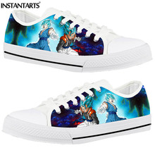 INSTANTARTS Men' Sneakers Dragon Ball Man Low Top Canvas Shoes