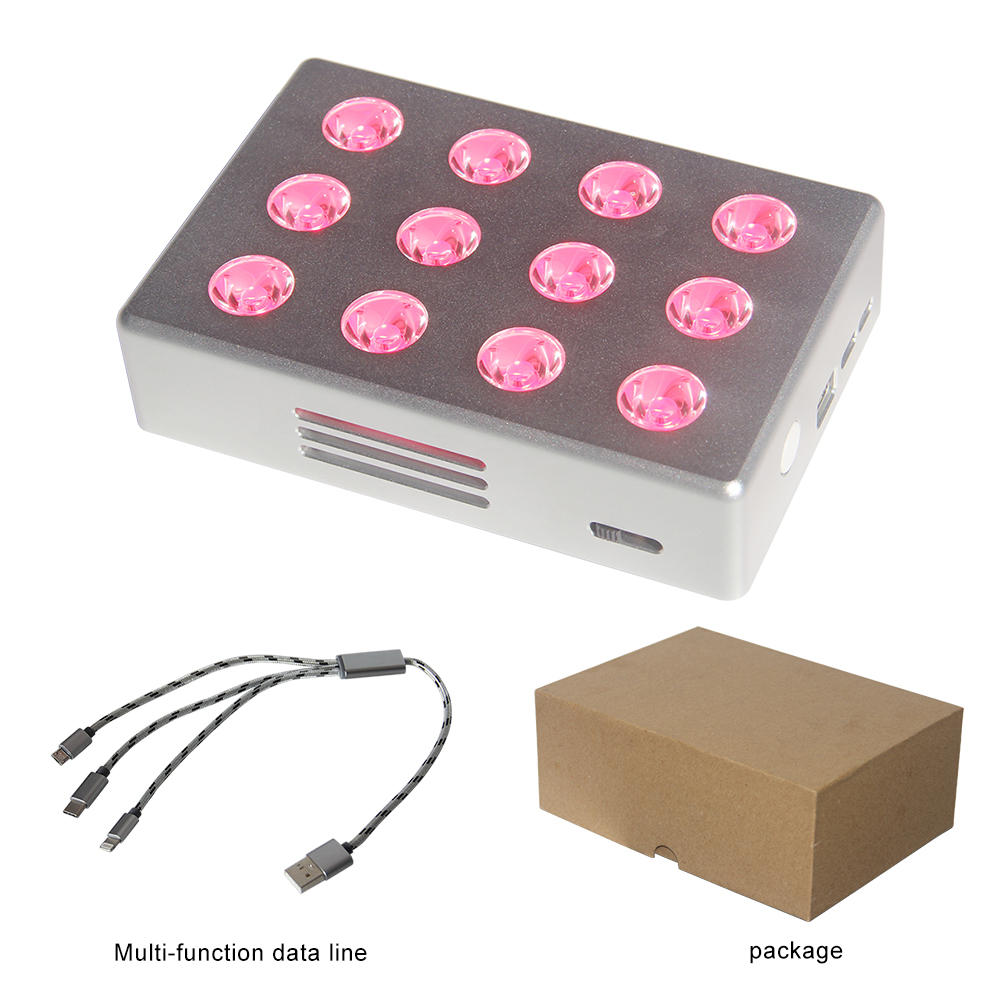 LED Light Therapy TL12 RED NIR LED SPA Device Battery Inside Anti Acne Rejuvenation Beauty Salon Equipment