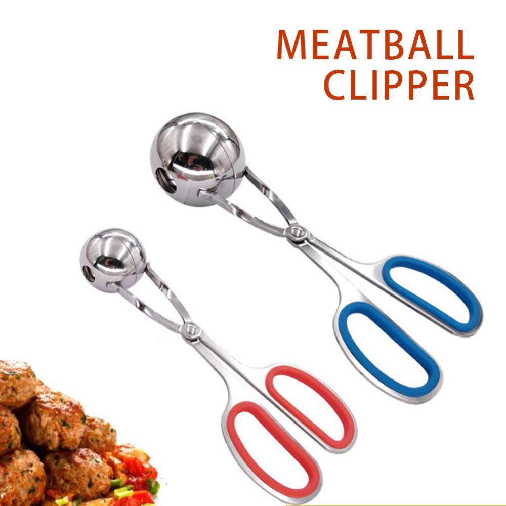 18 CM /19 CM Convenient Meatball Maker Stainless Steel Stuffed Meatball Clip DIY Fish Meat Rice Ball Maker