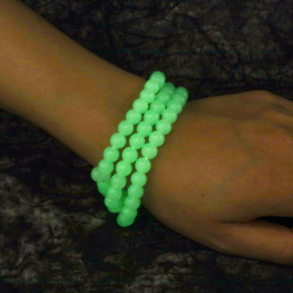 Image 3 - Luminous 8mm Natural Tassel Pendant 99 Prayer Beads Islamic  Muslim Tasbih Allah Mohammed Rosary for Middle East Women MenStrand  Bracelets