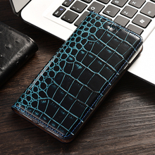 Luxury Crocodile Genuine Leather Flip Mobile Cases Case For Xiaomi Redmi Note 2 3 4 4X 5 5A 6 7 7A K20 Pro Go S2