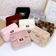 Crossbody-Bags Pouch Purses Coin Wallet Small Plush Girls Kids Women for Party Gift Faux-Fur
