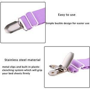 Image 3 - Clips pour draps et matelas 4 pièces, pinces pour draps et matelas, poignée au lit, support avec sangle élastique réglable
