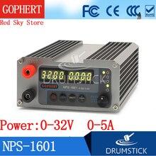 цена на Gophert NEW NPS-1601 32V 30V 5A CPS-3205 3205II Upgraded Version Mini Adjustable Digital DC Power Supply OVP/OCP/OTP WATT 0.001A