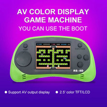 RS-8D Video Game Console 8 Bit 2.5 Inch Built-in 260 Classic Games Retro Fc Handheld TV Portable Nostalgic Kid Children Family