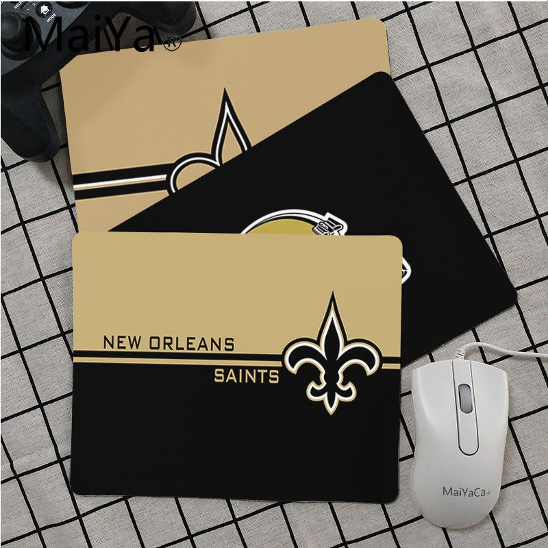 Maiya High Quality New Orleans Saints Unique Desktop Pad Game Mousepad Smooth Writing Pad Desktops Mate Gaming Mouse Pad