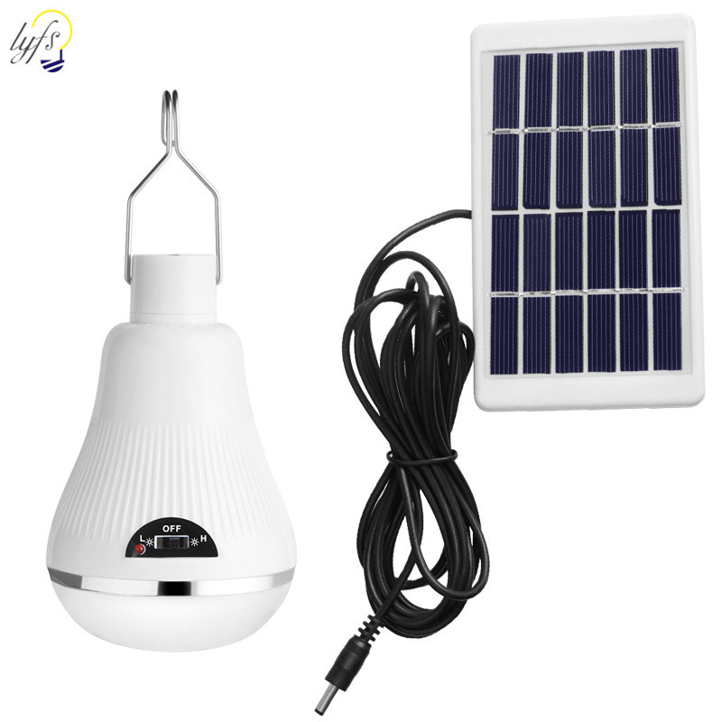20 LED Solar Bulb Outdoor Waterproof Portable Solar Hanging Light Spotlight Camping Garden Solar Lamp