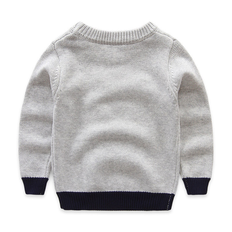 Boys Cotton Sweaters,Kids O-Neck Winter Clothes,Children Car Printed Casual Outerwear 4